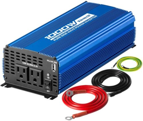 Kinverch-1000W-Continuous-2000W-Peak-Pure-Sine-Wave-Inverter-DC-12V-to-AC-110V-Car-Power-Inverter-with-Dual-AC-Outlets-2A-USB-Output