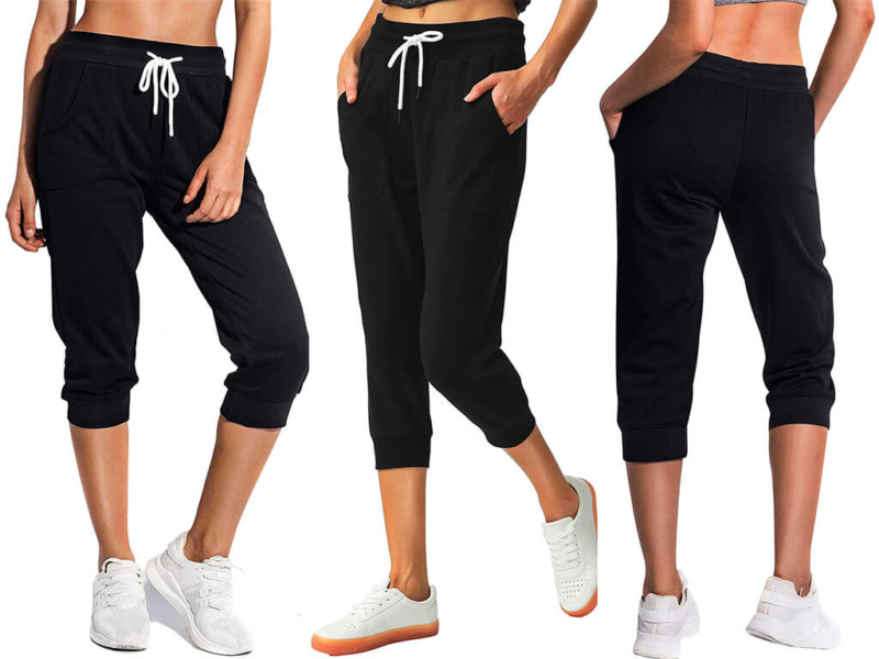 2. SPECIALMAGIC Women's Sweatpants Capri Pants Cropped Jogger