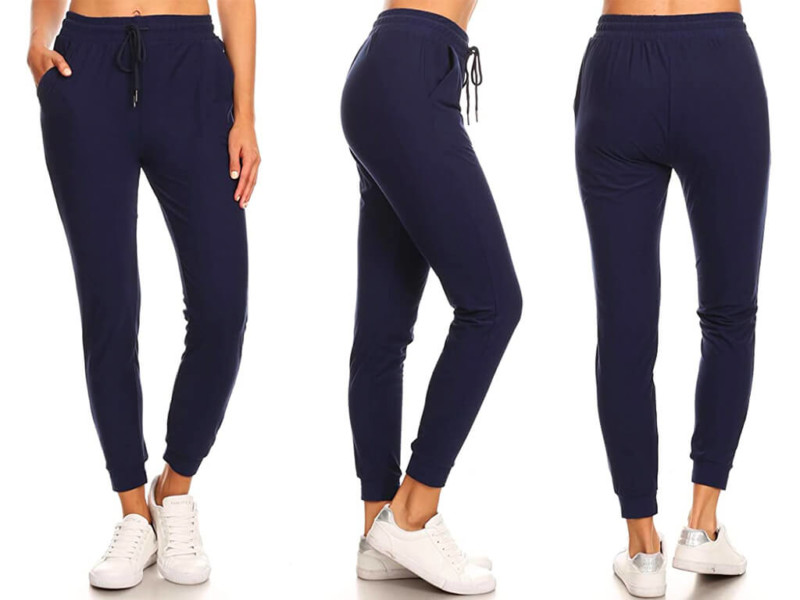 3. LA12ST Women's Juniors Soft Jogger Pants