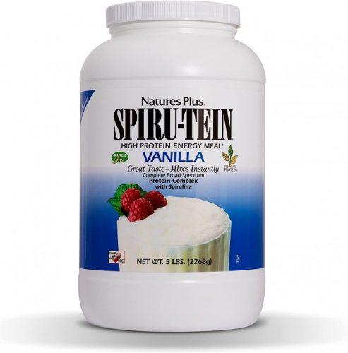 NaturesPlus SPIRU-TEIN Shake - Vanilla - 5 lbs, Spirulina Protein Powder